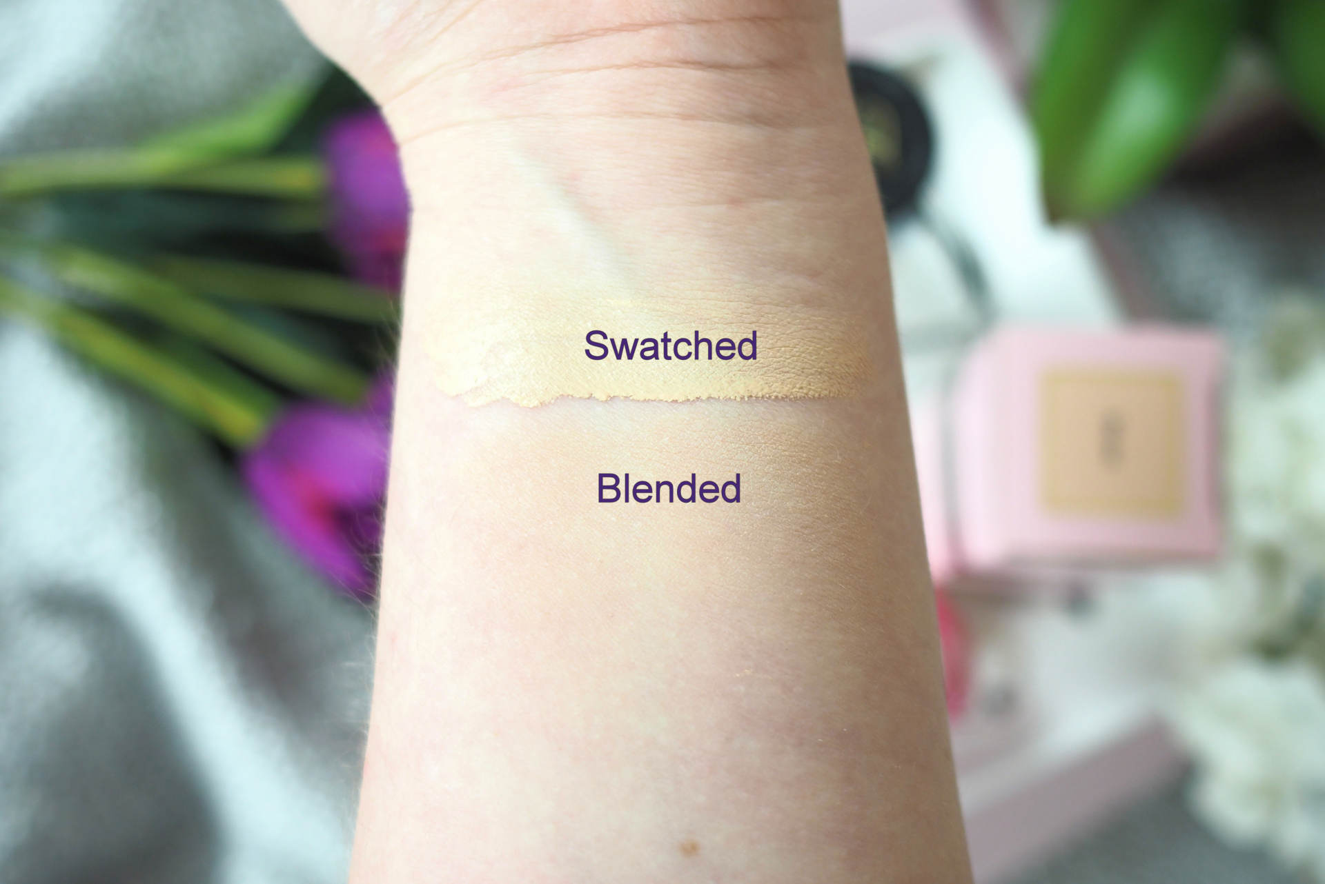 too faced born this way swatches the curvaceous vegan